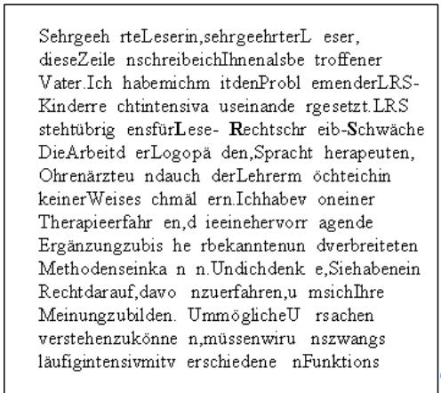 Textbeispiel MIlchstraße